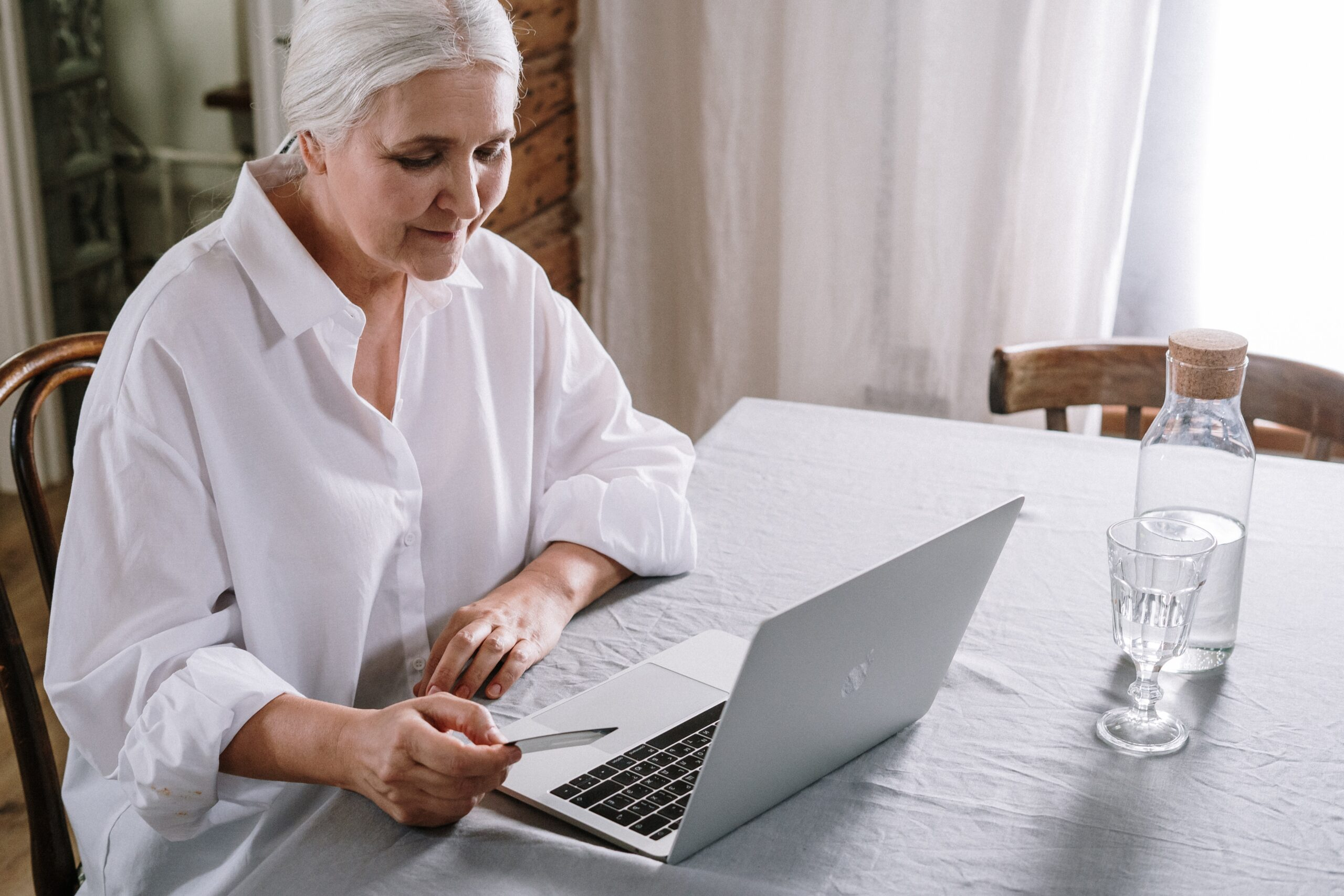 Old lady on her laptop
